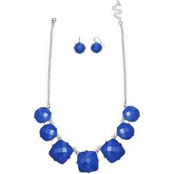 Paradise Shores Blue Facet Frontal Necklace Set