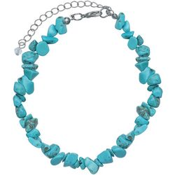 Jules B Turquoise Blue Stone Chip Anklet