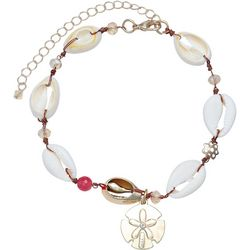 Jules B Wire Wrapped Shell & Sand Dollar Anklet