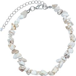 Jules B Natural Stone Chip Anklet