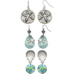 Coral Bay Trio Boxed Tropical Treasures Earring Set