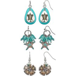 Coral Bay Trio Boxed Coastal Aqua Earring Set