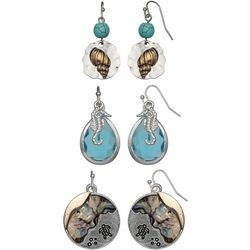 Coral Bay Trio Boxed Sea Life Earring Set