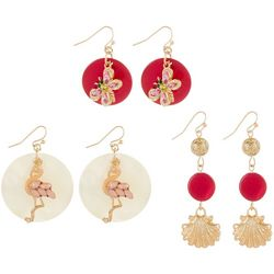 Coral Bay 3-pc. Coastal Shell Charm Earring Set