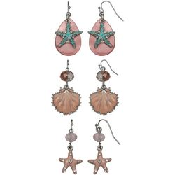 Coral Bay Trio Boxed Coastal Creatures Earring Set