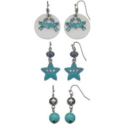 Coral Bay Trio Boxed Beaded Coasta Earring Set