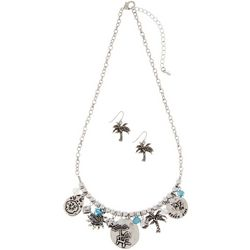 Paradise Shores Beach Icon Charm Necklace Set