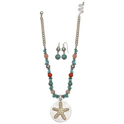 Paradise Shores Beaded Starfish Necklace Set
