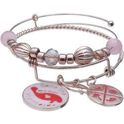 Chubby Mermaids Pink Multi Manatee Bangle Bracelet Set