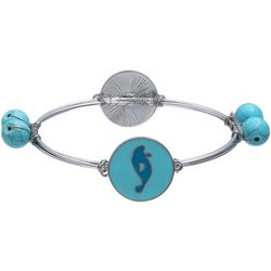 Chubby Mermaids Manatee Charm Wire Wrapped Bangle Bracelet