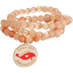 Chubby Mermaids 3-pc. Manatee Charm Beaded Bracelet Set