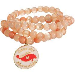 Chubby Mermaids 3-pc. Manatee Charm Beaded Bracelet Set