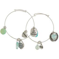 Jules B 2-pc. Grandma Family Blessed Bangle Bracelet Set