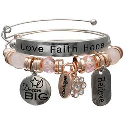Jules B 2-pc. Dream Big Love Faith Bangle Bracelet Set