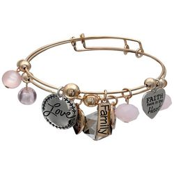 Jules B 2-pc. Faith Love Charm Bangle Bracelet Set