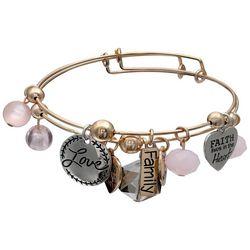 Jules B 2-pc. Faith Love Charm Bangle Bracelet Set