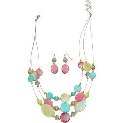 Paradise Shores Multi Shell Illusion Necklace Set