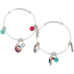 Jules B 2-pc. Beach Days Charm Bangle Bracelet Set