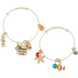 Jules B 2-pc. Dreaming Of The Sea Bangle Bracelet Set