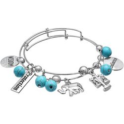 Jules B 2-pc. Health Wisdom Charm Bangle Bracelet Set