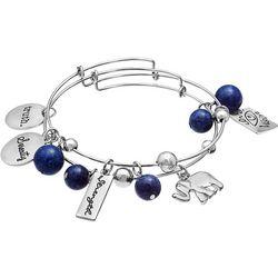 Jules B 2-pc. Truth Strength Blue Bangle Bracelet Set
