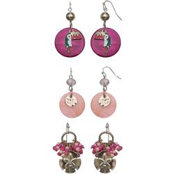 Coral Bay Pink Multi & Toucan Trio Earring Set