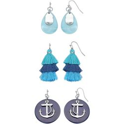 Coral Bay Shell & Tassel Trio Earring Boxed Set