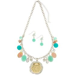 Paradise Shores Aqua Blue Beaded Shaky Necklace Set