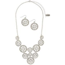 Paradise Shores Scroll Disc Frontal Necklace Set
