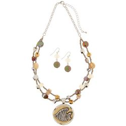 Paradise Shores Seed Bead & Shell Fish Necklace Set