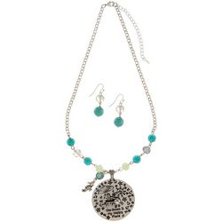 Paradise Shores Beach Is My Happy Place Necklace Set