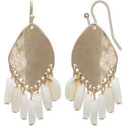 Milli Gold Tone & Shell Shaky Drop Earrings