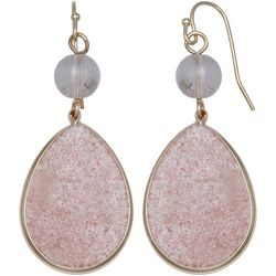 Milli Rose Agate Glass Teardrop Earrings