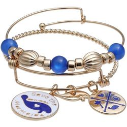 Chubby Mermaids Blue Multi Manatee Bangle Bracelet Set
