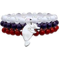 Chubby Mermaids Manatee Charm Beaded Bracelet Set