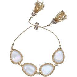 Milli MOP Cabochon Crystal Slider Bracelet