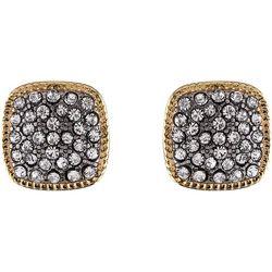 Jones New York Rhinestone Square Stud Earrings