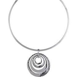 Jones New York Multi Ring Pendant Collar Necklace
