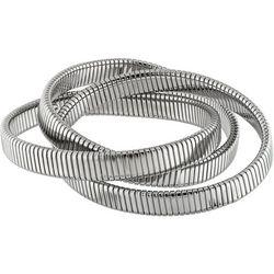 Jones New York 3 Row Silver Tone Stretch Bracelet