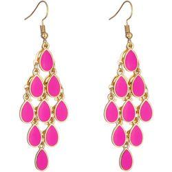 Nicole Miller New York Pink Teardrop Kite Earrings