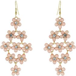 Nicole Miller New York Flower Kite Dangle Earrings