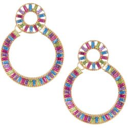 Nicole Miller New York Inlaid Stone Ring Earrings