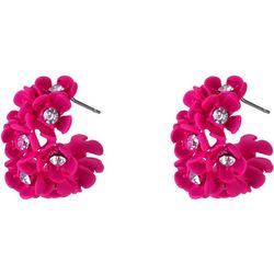 Nicole Miller New York Pink Flower Cluster Earring