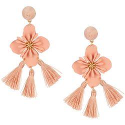 Nicole Miller New York Flower Tassel Earrings
