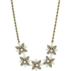 Nicole Miller New York Rhinestone Flower Necklace