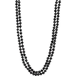 Jones New York Long Black Bead Knotted Necklace