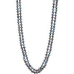 Jones New York Blue Ab Glass Bead Long Necklace