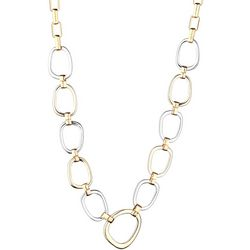 Jones New York Two Tone Oval Link Necklace