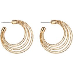 Jones New York Gold Tone Diamond Cut Hoop Earring