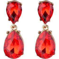 Jones New York Red Cabochon Teardrop Earrings